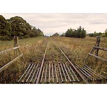 Old Railway Track Photographic Print