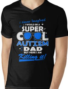 Autism - Cool Autism Dad Mens V-Neck T-Shirt