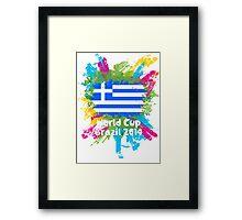 World Cup Brazil 2014 - Greece Framed Print