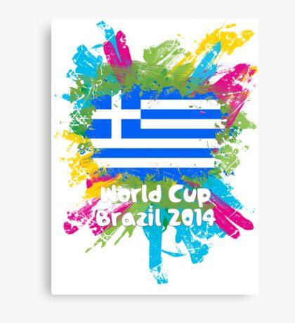 World Cup Brazil 2014 - Greece Canvas Print