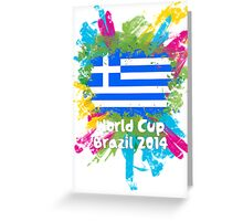 World Cup Brazil 2014 - Greece Greeting Card
