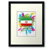 World Cup Brazil 2014 - Iran Framed Print