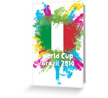 World Cup Brazil 2014 - Italy Greeting Card