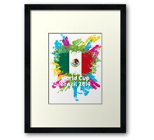 World Cup Brazil 2014 - Mexico Framed Print