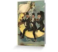 Carousing On The Moon Greeting Card