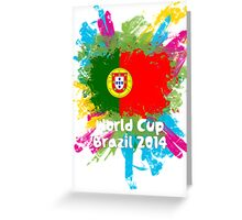 World Cup Brazil 2014 - Portugal Greeting Card