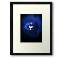 Doctor Who - 2005 Intro Themed (Blue) Framed Print