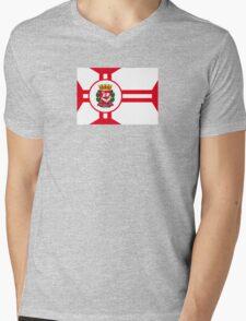 Flag of São Paulo Mens V-Neck T-Shirt