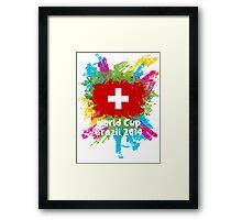 World Cup Brazil 2014 - Switzerland Framed Print
