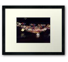 Coloured lights colored lights Framed Print