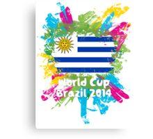 World Cup Brazil 2014 - Uruguay Canvas Print