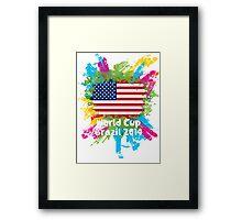 World Cup Brazil 2014 - USA Framed Print