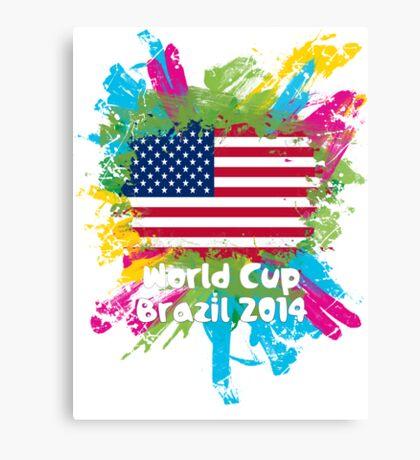 World Cup Brazil 2014 - USA Canvas Print