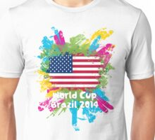 World Cup Brazil 2014 - USA Unisex T-Shirt