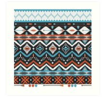 Native american seamless tribal pattern with geometric elements Art Print