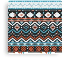 Native american seamless tribal pattern with geometric elements Canvas Print