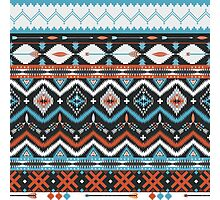 Native american seamless tribal pattern with geometric elements Photographic Print