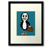 Is This Your Purse Penguin Framed Print