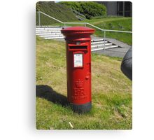 Red Postbox Mailbox Canvas Print