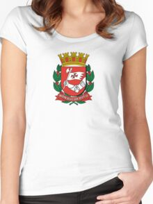Coat of Arms of São Paulo Women's Fitted Scoop T-Shirt