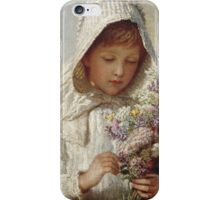 Karl Wilhelm Friedrich Bauerle - The Month Of September. Girl portrait: cute girl, girly, female, pretty angel, child, beautiful dress, face with hairs, smile, little, kids, baby iPhone Case/Skin