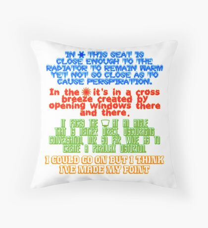 My Spot - Throw Pillow Throw Pillow