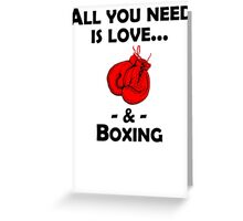 Love And Boxing Greeting Card