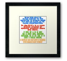 My Spot - T-shirt Framed Print