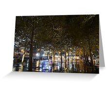 Southbank fairy lights Greeting Card