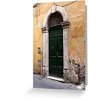 Doorways of Rome Greeting Card