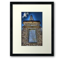Monument to the fallen Framed Print
