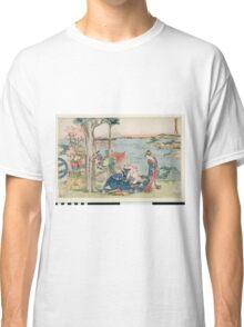 Katsushika Hokusai - Woodcut. geisha portrait : geisha, samurai, clothes,  costume, love relations,  hairstyle, traditional costume, traditional dress, traditional dress, river, mount Classic T-Shirt