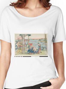 Katsushika Hokusai - Woodcut. geisha portrait : geisha, samurai, clothes,  costume, love relations,  hairstyle, traditional costume, traditional dress, traditional dress, river, mount Women's Relaxed Fit T-Shirt