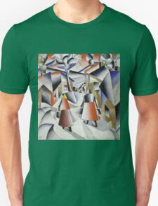 Kazimir Malevich - Morning In The Village After Snowstorm. Abstract painting: abstract art, winter, village, snowstorm, lines, forms, creative fusion, spot, shape, illusion, fantasy future Unisex T-Shirt