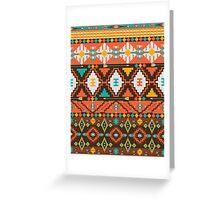 Aztec geometric seamless  colorful pattern Greeting Card