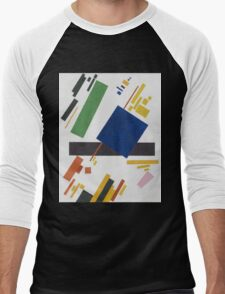 Kazimir Malevich - Suprematist Composition. Abstract painting: abstract art, geometric, expressionism, composition, lines, forms, creative fusion, spot, shape, illusion, fantasy future Men's Baseball ¾ T-Shirt