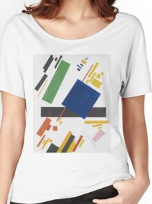 Kazimir Malevich - Suprematist Composition. Abstract painting: abstract art, geometric, expressionism, composition, lines, forms, creative fusion, spot, shape, illusion, fantasy future Women's Relaxed Fit T-Shirt