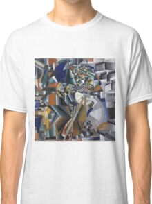 Kazimir Malevich - The Knife Grinder Or Principle Of Glittering. Abstract painting: art, geometric, expressionism, composition, lines, forms, creative fusion, spot, shape, illusion, fantasy future Classic T-Shirt