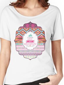 Navajo colorful  tribal pattern with geometric elements Women's Relaxed Fit T-Shirt