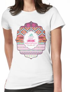 Navajo colorful  tribal pattern with geometric elements Womens Fitted T-Shirt
