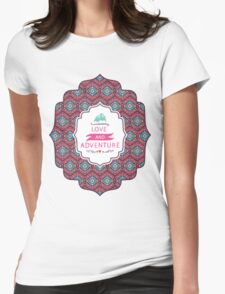 Aztec geometric seamless  colorful pattern Womens Fitted T-Shirt