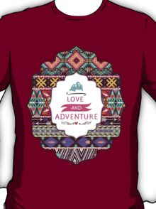 Aztec pattern with geometric elements T-Shirt