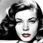 Lauren Bacall Portrait by Gabriel T Toro