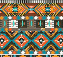 Aztec geometric seamless  colorful pattern by tomuato