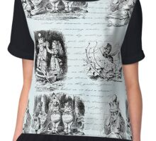 Alice in Wonderland Toile Chiffon Top