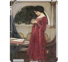 John William Waterhouse - The Crystal Ball . Woman portrait: sensual woman, girly art, female style, pretty women, femine, beautiful dress, cute, creativity, love, sexy lady iPad Case/Skin