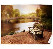 Bow Bridge Nostalgia Poster