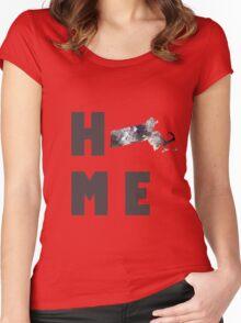 "Massachusetts ""HOME"" Women's Fitted Scoop T-Shirt"