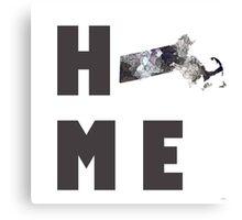 """Massachusetts """"HOME"""" Canvas Print"""