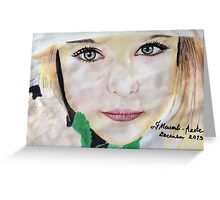 The portrait Greeting Card